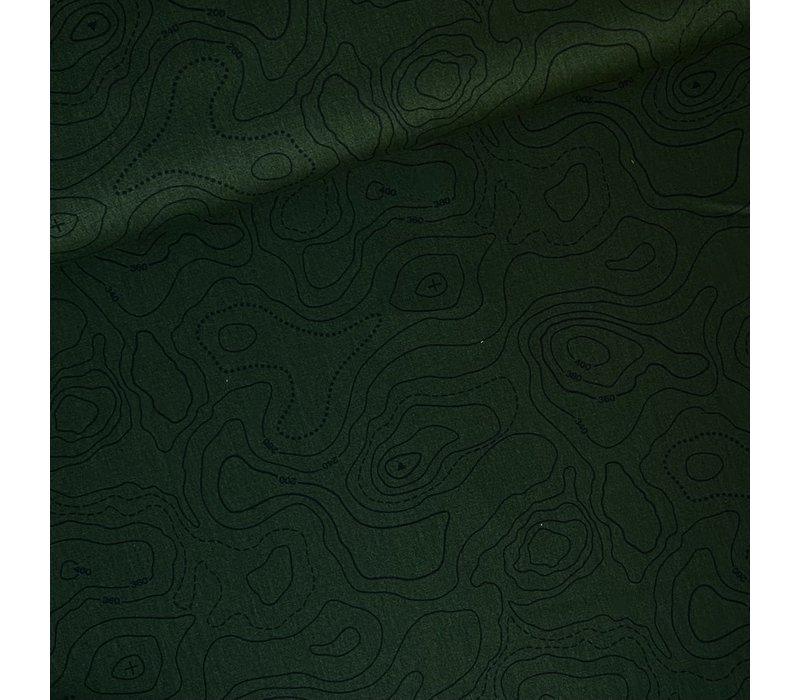 Canvas Contour Lines Dark Khaki
