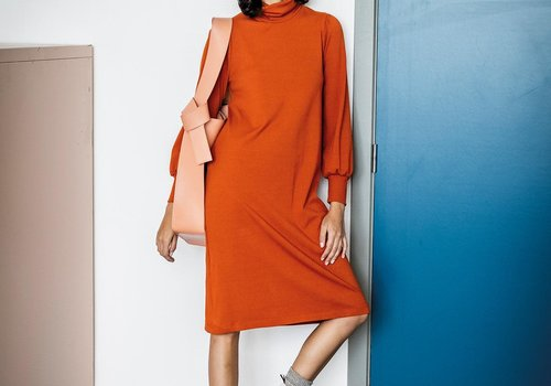 Fibre Mood Ribbed jersey Orange - DANIELLA