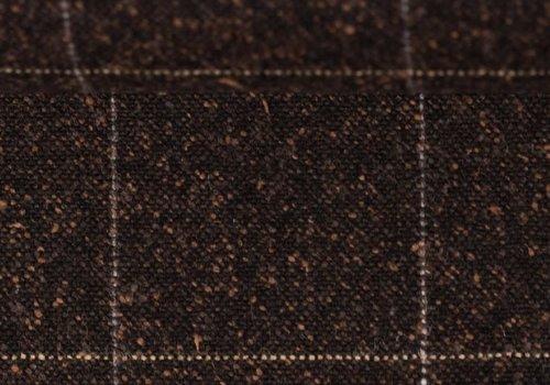 De Stoffenkamer Wol Mix Tweed Spicks Check Choco