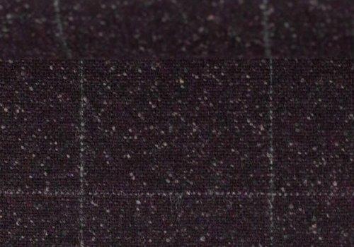 De Stoffenkamer Wol Mix Tweed Spicks Check Bordo