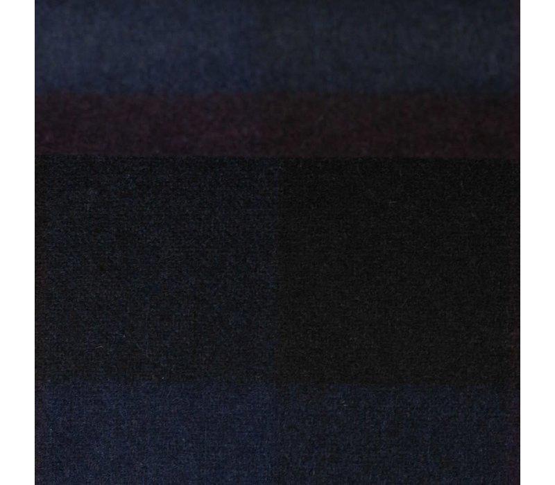 Wol Mix Tweed Multi Checks Bordeaux