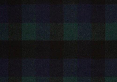De Stoffenkamer Wol Mix Tweed Multi Checks Green