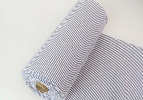 De Stoffenkamer Boordstof 75cm Stripes Grey / White