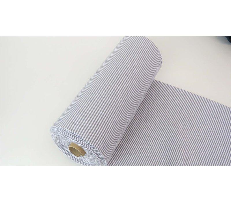 Boordstof 75cm Stripes Grey / White