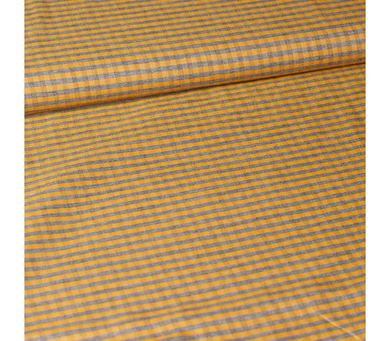 Viscose Cotton Mini Checks Oker
