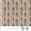 Elvelyckan Bio tricot - Flowerfest Cappucino