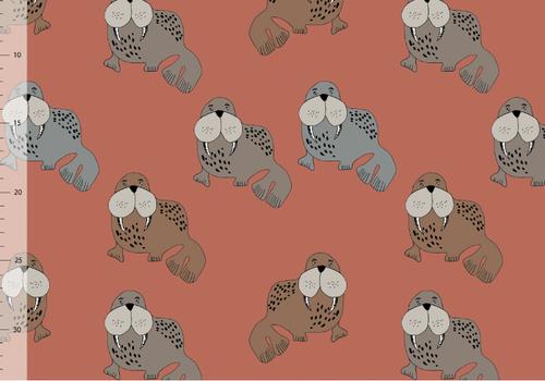 Elvelyckan Bio tricot - Walrus  Rusty