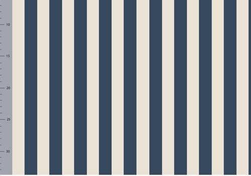 Elvelyckan Bio tricot - Vertical  Dark Blue