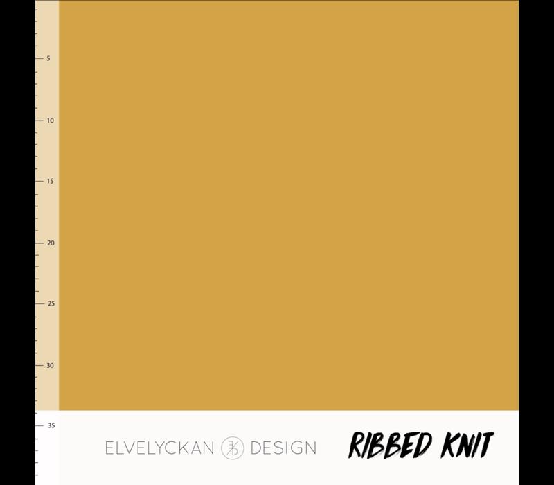 Bio Ribbed tricot - Gold