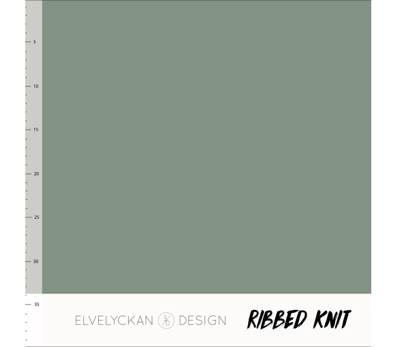 Bio Ribbed tricot - Green
