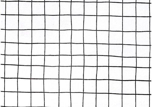 De Stoffenkamer Gelamineerd Katoen Black Grid