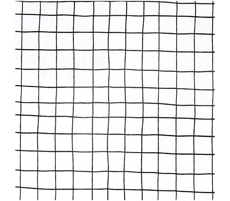 Gelamineerd Katoen Black Grid