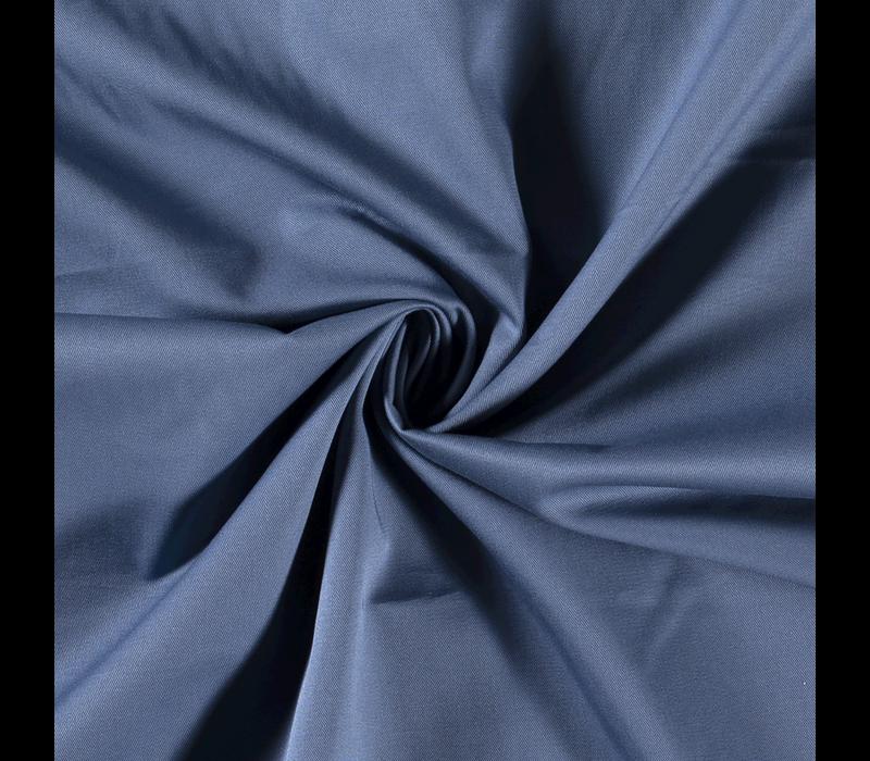 Canvas gabardine middenblauw