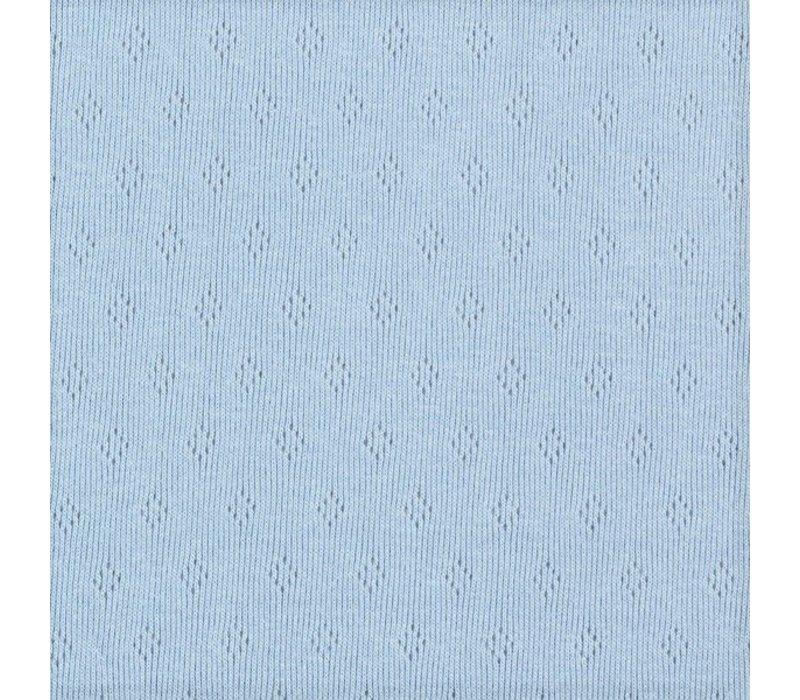 Ajour Tricot Pointelle - Soft Mintblue