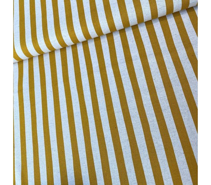 Canvas Natural Stripes Oker