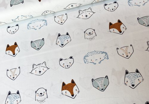 Art Gallery Cotton Little Forester Animal Heads