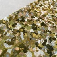 Soft blouse Metallic Leopard moss