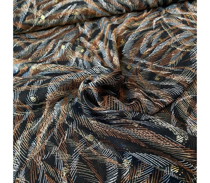 Soft blouse Metallic Stripy rusty black