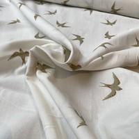 Wrinkle Cotton Ecru Swallow