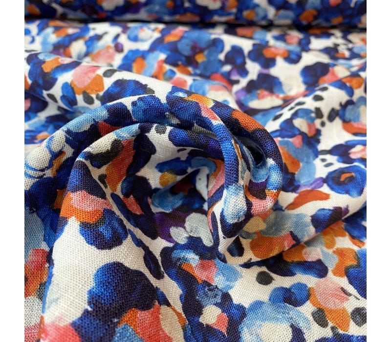Linen Mix Bright Multi Spots