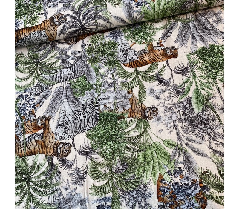 Linen Mix Jungle Tiger