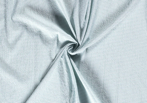 De Stoffenkamer Seersucker Cotton - checks mintgreen