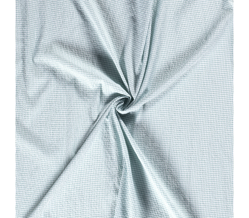 Seersucker Cotton - checks mintgreen