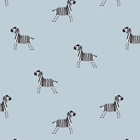 Tricot  lightblue zebra