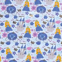 Tricot  Lightblue Foil Princess
