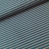 De Stoffenkamer Sweater Stripes petrol/rusty