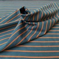 Sweater Stripes petrol/rusty