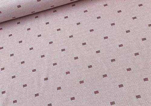 Bittoun Jacquard Tricot Diagonal Pink Metallic