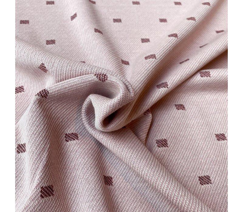 Jacquard Tricot Diagonal Pink Metallic
