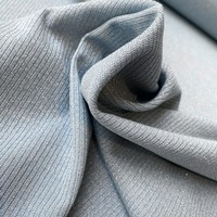 Ribbed tricot - blue metallic sparkle