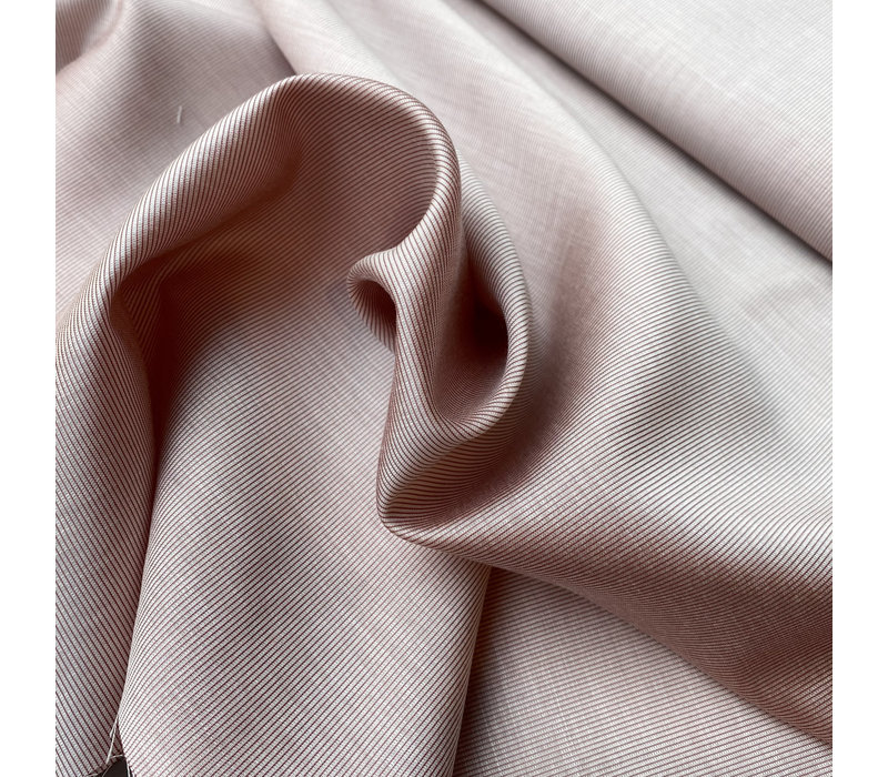 Satin Viscose  pink stripes
