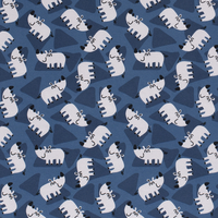 Tricot  Indigo Rhino
