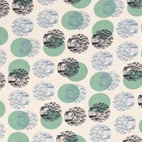 Linen Mix Ecru Drawn Dots