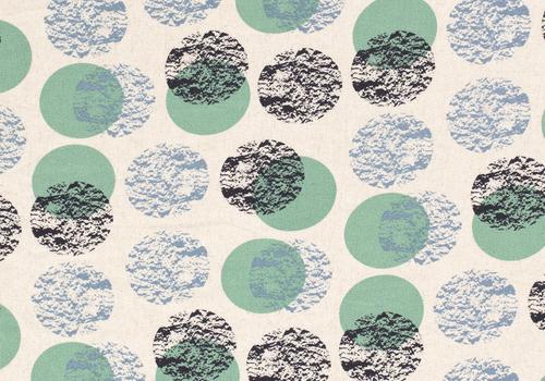 De Stoffenkamer Linen Mix Ecru Drawn Dots