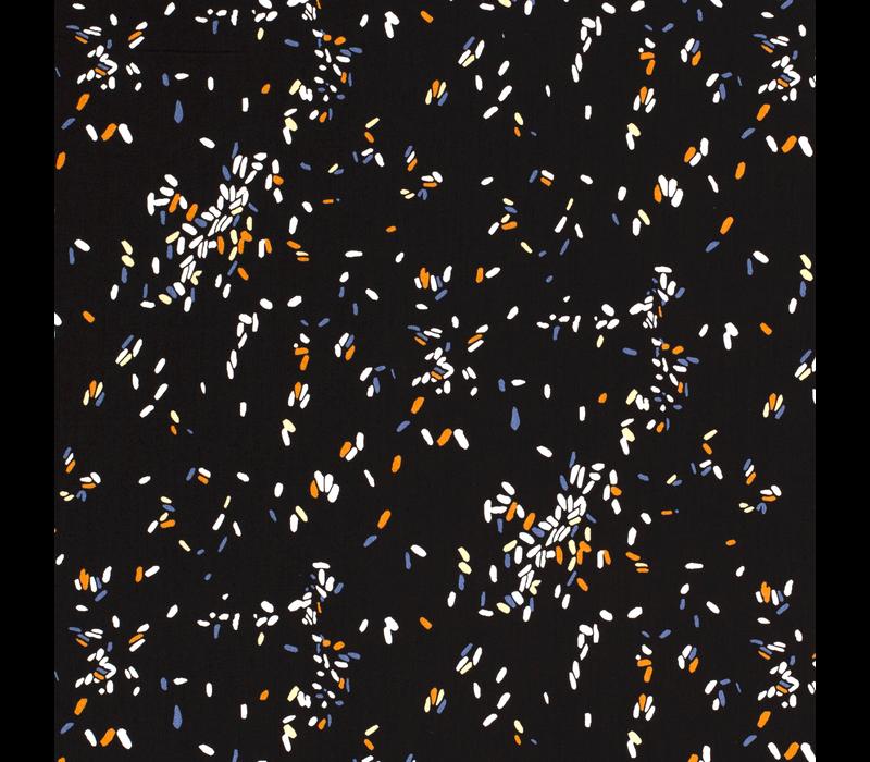Viscose black confetti