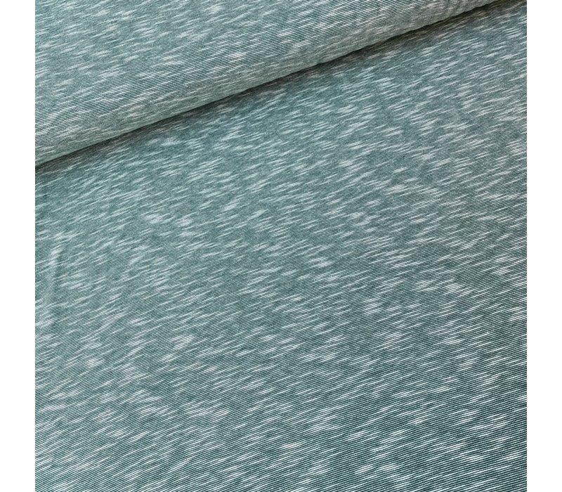 BIO Tricot Mini melange stripes Green