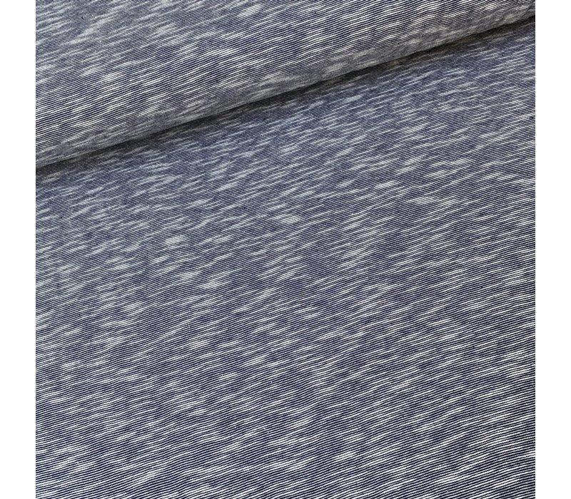 BIO Tricot Mini melange stripes Navy