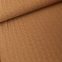 Tricot Broderie Rusty Brown