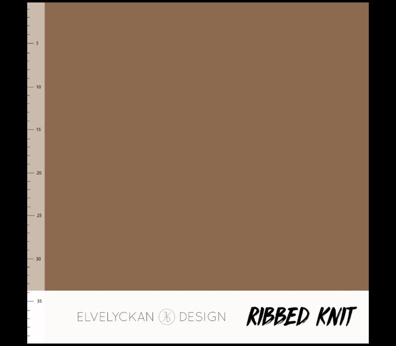 Bio Ribbed tricot - Nutmeg