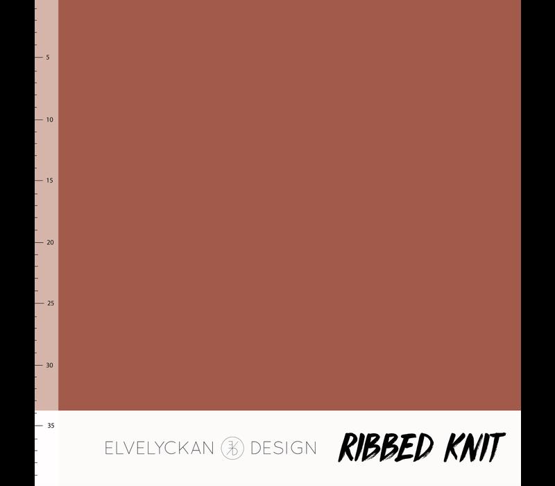 Bio Ribbed tricot - Rusty