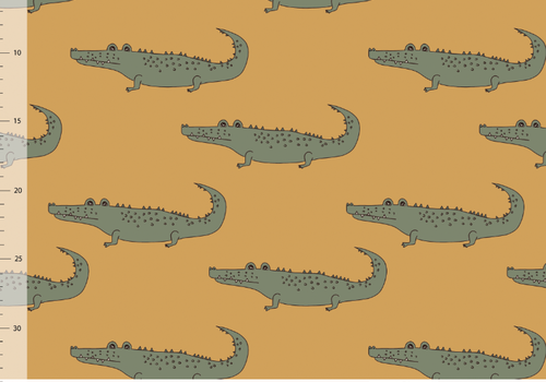 Elvelyckan Bio tricot - Crocs Gold