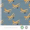 Elvelyckan Bio tricot - Airplanes Blue