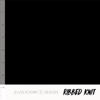 Bio Ribbed tricot - Black