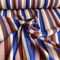Viscose Crepe Multi Stripes