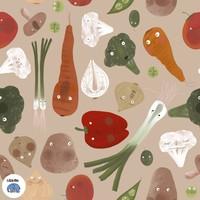 French Terry BIO Soup Veggies