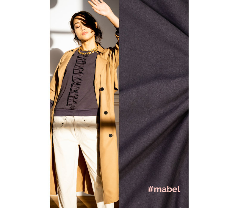 Boordstof Mabel - Antraciet